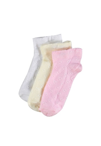 LC Waikiki pink 3-Pack Baby Girl's Ankle Socks D6FEFKAF7BAC43GS_1