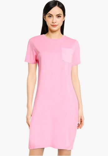 ONLY pink Emelie Pocket Nightwear Dress E373FAA168FA50GS_1