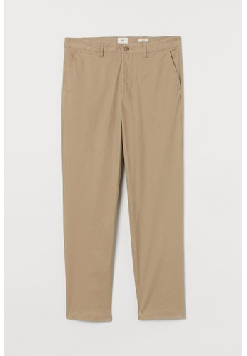 H&M beige Cotton chinos Regular Fit 585B6AAE09A0D4GS_1