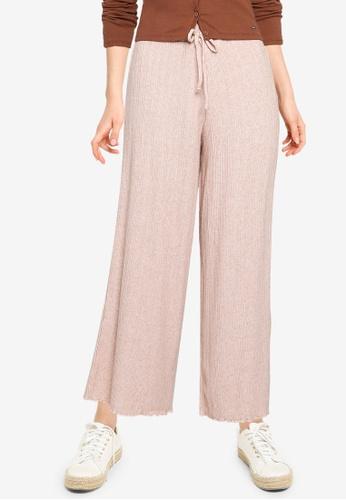 Hollister pink Pointelle Culotte Pants A9564AA37818EBGS_1