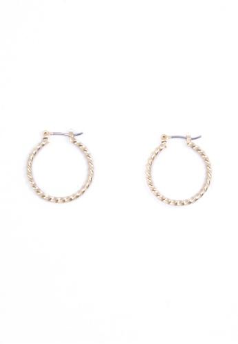 SKEDA gold Mini Braided Hoop Earrings 0B5D7ACD5934C1GS_1