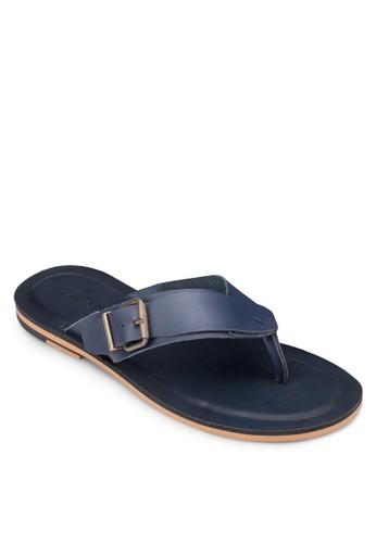 扣環zalora 泳衣皮革夾腳拖鞋, 鞋, 涼鞋及拖鞋