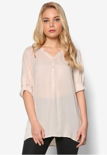 鈕esprit 寢具扣半開金長袖上衣, 服飾, 上衣