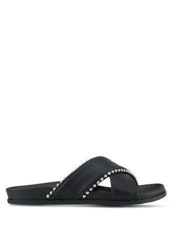 Something Borrowed black Crossover Footbed Sandals 52448SH7B99FB8GS_1