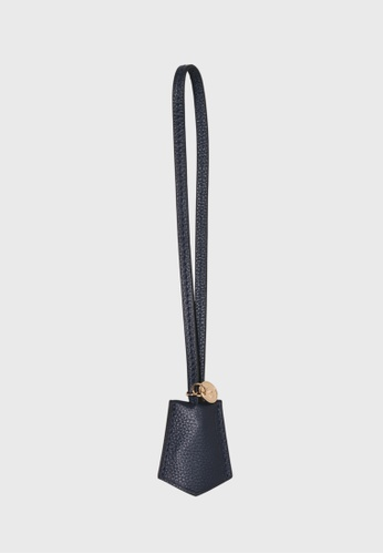 Tocco Toscano blue and navy Lunar Lumine Leather Bag Charm (Navy) CD4C7ACD377677GS_1