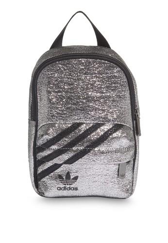 ADIDAS silver logo mini backpack 78BF0AC735079AGS_1