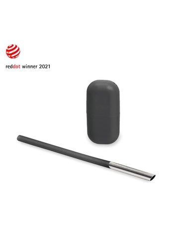 Viida black [VIIDA] Morgen UiU Collapsible and Reusable Straw, BLACK (S Series) 0.8cm, Premium 316 Stainless Steel & Silicone body - 6 Colors Available F2801HL2E2A966GS_1