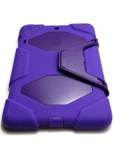 Military Style Shockproof Case w/ Stand for Apple iPad Mini ( Purple )
