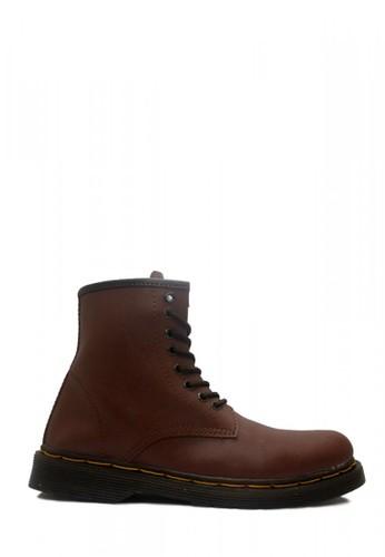 D-Island brown D-Island Shoes Boots Classic Airwair Mens High Leather Dark Brown B9D3DSHDFEC18AGS_1