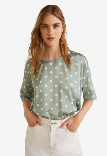 Mango green Printed T-Shirt 43BDEAA6E7C5E7GS_1