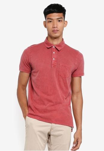 OVS 紅色 休閒短袖POLO衫 33B8DAAE2E401CGS_1