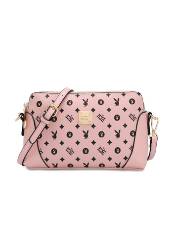 PLAYBOY BUNNY pink Casual Sling Bag 00489ACB8377A5GS_1