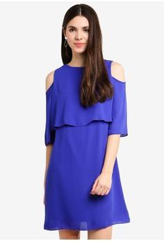 aab9308166a5d Dorothy Perkins blue Cobalt Cold Shoulder Shift Dress E6D1AAA0C1A2BCGS_1