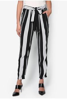 Petite Monochrome Stripe Jogger Trousers