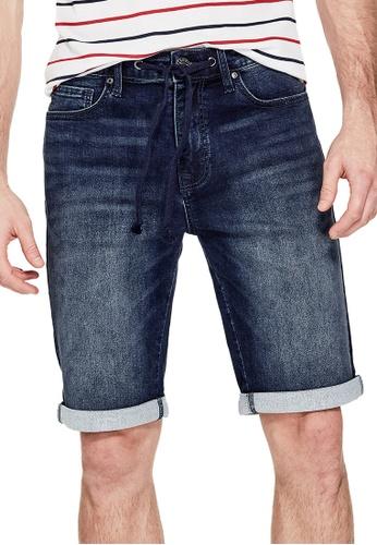 Guess blue Guess Troy Denim Shorts 9097DAAFED12D5GS_1