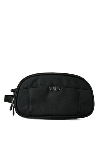 Go Travel black Dual Washbag Toiletry Kit GO258AC0JY78PH_1