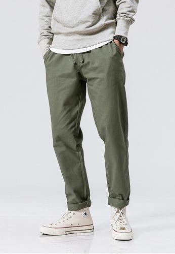hk-ehunter green Casual Regular Fit Pants 1475AAAA6BDB14GS_1