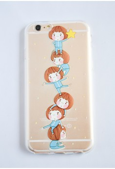 Girls and a Star Transparent Soft Case for iPhone 6