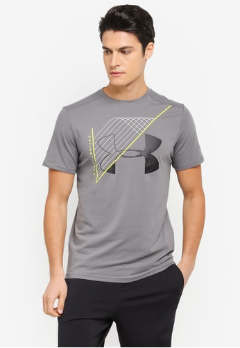Under Armour multi and grey Warped Route Short Sleeve T-Shirt UN337AA0SU86MY_1