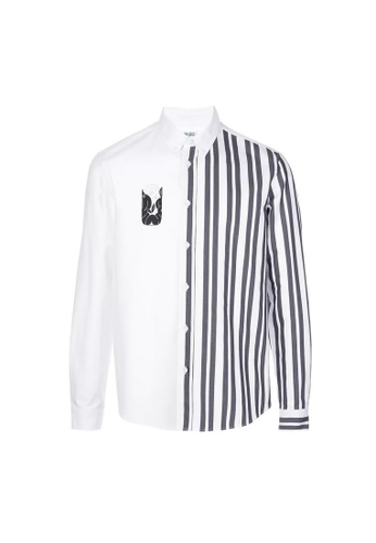 """Kenzo white Kenzo """"Mermaids"""" Shirt in White 6AF26AAC1FA6C6GS_1"""