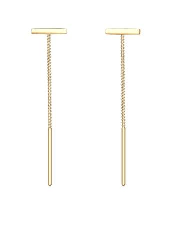 Elli Germany gold Elli Germany Geo Minimalist 925 Silver Earrings EL474AC51OLCMY_1
