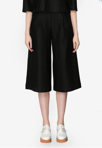 Hopeshow black Loose Fit Striped Pants 88A9CAA377FADFGS_1