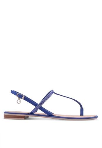 Guess blue Henrica Rhinestone Sandals GU020SH0S7LAMY_1