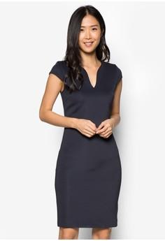 Collection V Neck Bodycon Dress