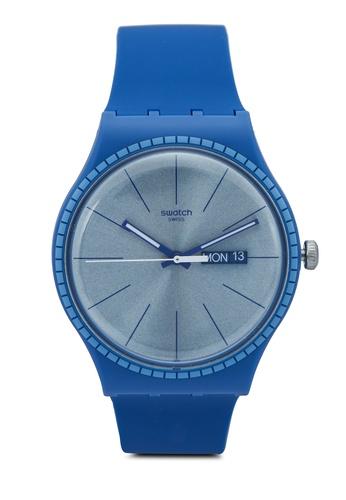 Swatch 藍色 Blue Rails Watch 036ECAC6DC32DEGS_1