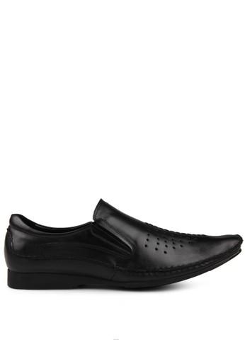 Marelli black Men Rome Leather Shoes MA036SH48UITID_1
