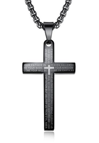 Trendyshop black Cross Necklace 4DFC5AC5EFF198GS_1