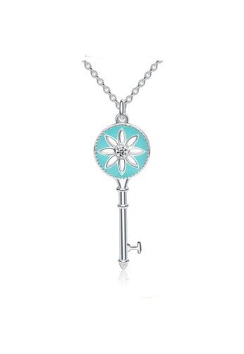 LYCKA blue and silver LPP88131 S925 Silver Necklace DD8AEACD3E629FGS_1