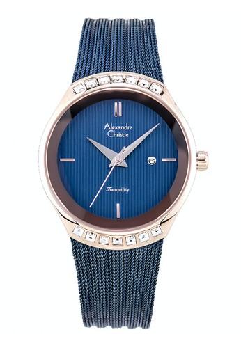 Alexandre Christie blue Alexandre Christie Jam Tangan Wanita - Blue Rosegold - Stainless Steel - 2668 LDBURBU 2C6E8AC9EE3AF5GS_1