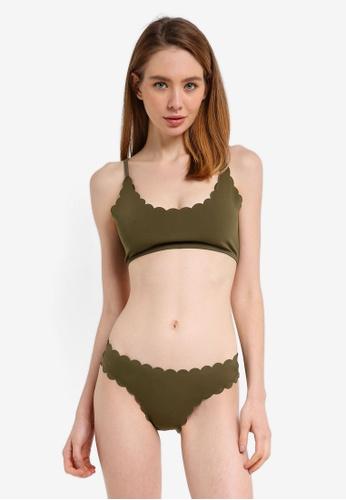 MISSGUIDED green Scallop Bralet Bikini Set D177EUS0EEC024GS_1