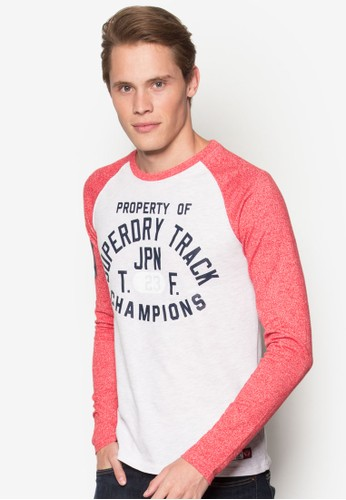 Trackster  esprit 價位拉克蘭長袖棒球設計TEE, 服飾, 服飾