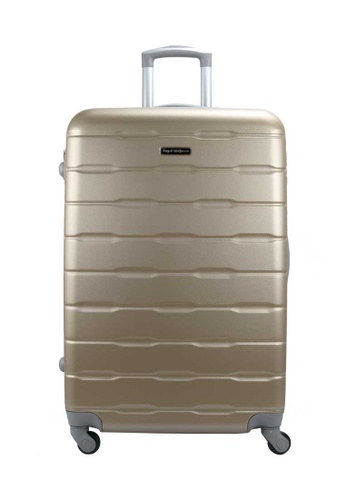 "Royal McQueen gold Royal McQueen Hard Case 4 Wheels Spinner Light Weight 20 Luggage – QTH 6910 (GOLD)"" D380FAC9983F51GS_1"