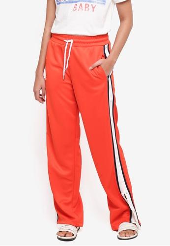 TOPSHOP orange Orange Popper Track Pants 784CFAA1E9089AGS_1