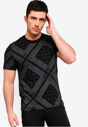 Calvin Klein 黑色 短袖印花T恤 6FA8AAAAFB0916GS_1