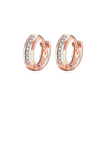 Glamorousky white Fashion Plated Rose Gold Earrings with Cubic Zircon A0F4DAC2D3E36EGS_1