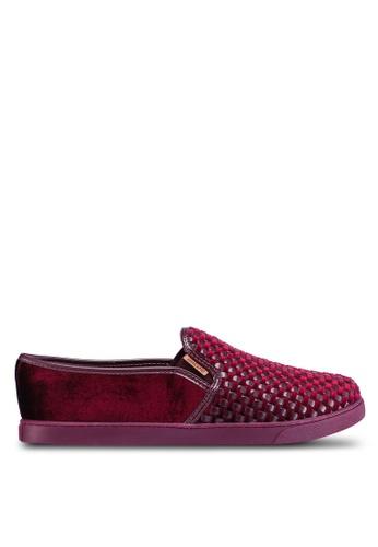 Anacapri 紅色 Tresse Slip Ons BEC8ESHD61A328GS_1