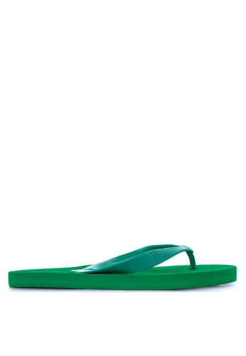 BENCH green Basic Rubber Slippers BE550SH85LQOPH_1