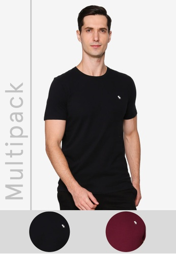 Abercrombie & Fitch multi Multipacks 2-Packs Icon Crew T-Shirts 91750AA340E235GS_1