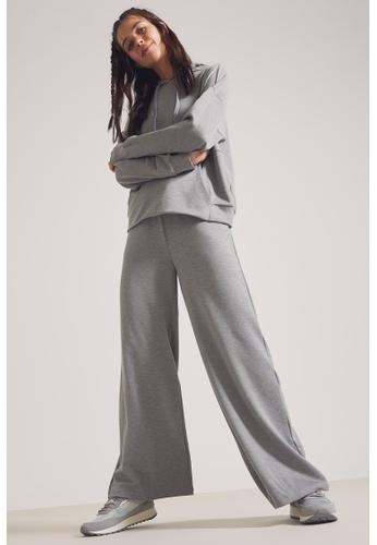 DeFacto grey High Waist Wide Leg Trousers 4D3EAAA90EC6F5GS_1
