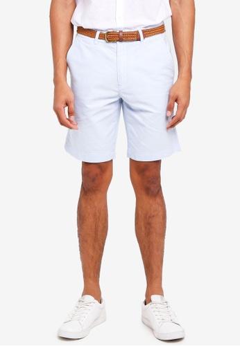 Burton Menswear London 藍色 腰帶牛津短褲 0993EAA42B4BE7GS_1