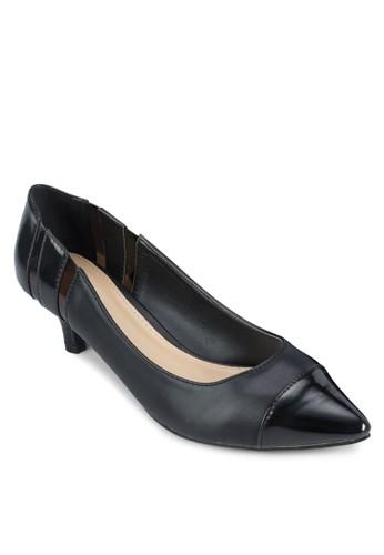 拼接esprit高雄門市尖頭低根鞋, 女鞋, 厚底高跟鞋