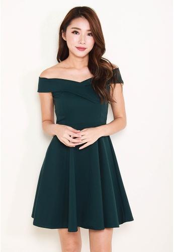 Leline Style green Elise Offshoulder Dress LE802AA0FV6ZSG_1