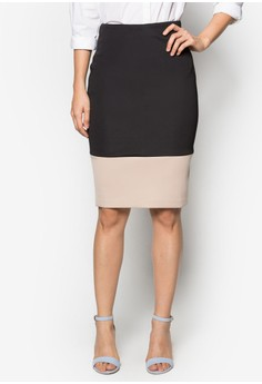 Collection Colour Block Midi Skirt