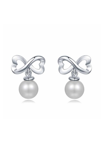 MaBelle silver Priceless Love 925 Silver Pearl Earrings 75336AC574BB53GS_1