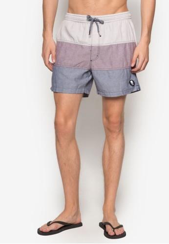 Caesprit 見工bo 色塊衝浪短褲, 服飾, 服飾