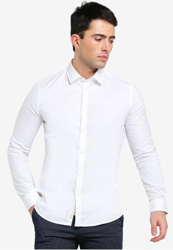 Sisley white Long Sleeves Shirt. BE587AAF932A23GS_1